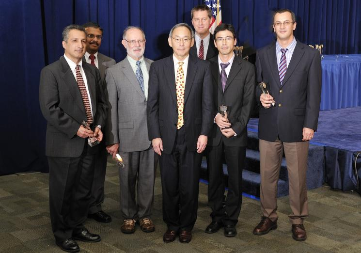 The Hanford Liquid Waste V&V Evaluation Team with Secretary Steven Chu as they receive a Secretary of Energy Achievement Award. | Photo courtesy of the Energy Department