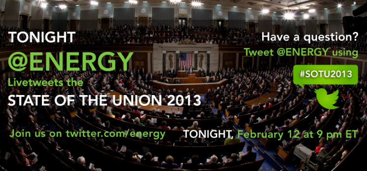 Stay tuned as we livetweet the President's annual State of the Union Address later this evening. | Graphic by Sarah Gerrity, Energy Department.