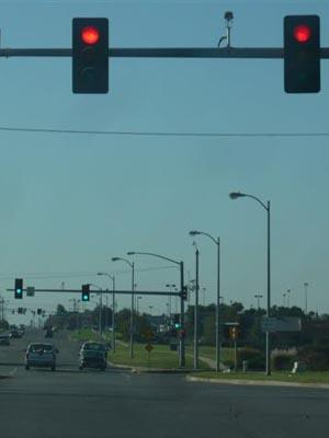 Topeka is using Recovery Act funding to resynchronize 22 traffic lights. | Photo by Linda Voss