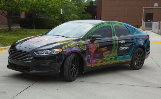 Pictured Here Is Ford S Lightweight Concept Vehicle A Prototype That Nearly 25 Percent Lighter