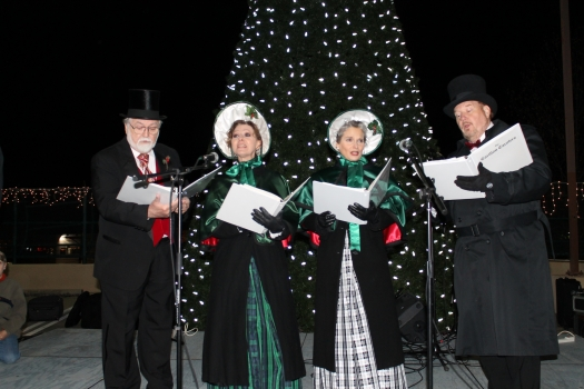carolers sing in front of forest acres south carolinas new led holiday light display