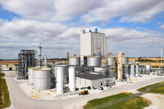 duponts cellulosic ethanol biorefinery in nevada iowa opened on october 30