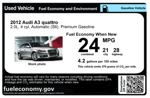 Fuel Efficient Used Cars >> Fuel Economy Sticker Revs Up Used Car Sales Department Of