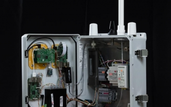 The inside of sensor arrays developed by ORNL researchers for the Chattanooga EPB.