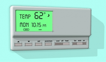 Use a programmable thermostat to automatically turn down the heat at night or when you're away from home.