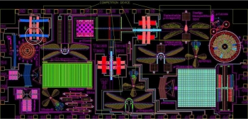 """A computer simulation of the """"dragonfly-inspired"""" device. 