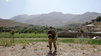 Army Capt. Mark Spurlock is photographed while stationed in Afghanistan.