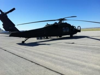 Franco flew aboard the Blackhawk, shown, based at the Army Aviation Support Facility in Santa Fe as part of a N.M. ESGR orientation initiative. The national ESGR seeks to develop and promote a culture in which all American employers support and value the military service of their employees.
