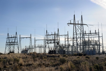 INL's full scale grid is unique in the nation and provides opportunities for full scale research with its 61 miles of transmission line and seven distribution substations. (Idaho National Laboratory)