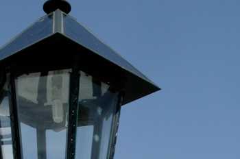 This is one of the 100 decorative solar-powered LED lights that replaced natural gas-powered streetlights in the city of Deming, New Mexico. | DOE photo