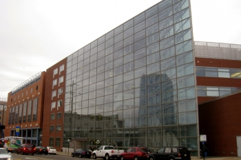 The Bossone Research Enterprise Center is one of six buildings on Drexel University's Philadelphia campus to undergo energy efficiency upgrades to its heating and cooling systems that will reduce energy consumption and save the university up to $600,000. | Photo courtesy of Daderot.