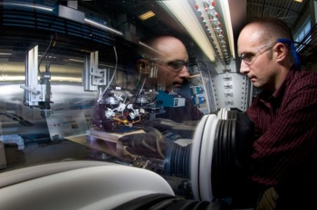 National Renewable Energy Laboratory research scientist Robert Tenent is helping incorporate thin-film design and manufacturing processes to improve the performance and drive down the sticker price of electrochromatic windows and make the product more accessible.   Photo courtesy of NREL.