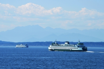 """Auto and passenger ferries operated by the Washington State Transportation Department shuttle more than 11 million people across the Puget Sound every year. Now, the electric-diesel engines that propel these vessels are powered by a blend of soy-based biodiesel and petroleum diesel.   Photo courtesy of <a href=""""http://creativecommons.org/licenses/by-sa/3.0/deed.en"""">Joe Mabel</a>."""