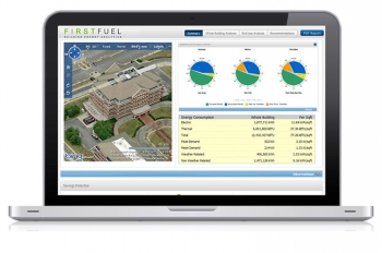 This screenshot from cleantech start-up company FirstFuel's building energy efficiency performance software shows users a building's response to all forms of weather, operational schedules, key energy metrics, daily consumption patterns, seasonal analysis, peak loading, and shell integrity.   Photo courtesy of FirstFuel.