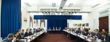 Industry and government officials discuss the Better Buildings Challenge expansion at the White House earlier this week. | Photo courtesy of Department of Housing and Urban Development