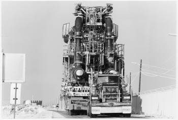 As part of the Aircraft Nuclear Propulsion Program, the U.S. conducted extensive research showing that nuclear fission could power an aircraft. The research involved a series of Heat Transfer Reactor Experiments (HTREs), which tested if different types of jet engines could be run by nuclear power. In 1955, however, the project was cancelled, and a safe, operational prototype aircraft was never developed. In this 1988 photo, the two HTRE reactors are shown in transport to Idaho National Laboratory's EBR-1 visitor center, where they remain today. | Photo courtesy of Idaho National Laboratory.