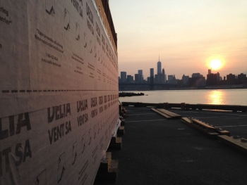 The New York City College of Technology is weatherproofing its house, called DURA, at a Brooklyn Navy Yard construction site. | Photo courtesy of New York City College of Technology.