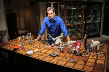 """New York Times technology correspondent David Pogue -- host of NOVA's popular """"Making Stuff"""" series -- takes viewers on a quest to understand chemistry and all of the materials of life: the 118 unique elements that make up the amazing periodic table, including the 90 naturally-occurring elements and those created by scientists. 
