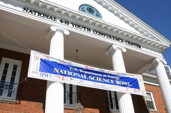 "The National Science Bowl is the largest science competition in the United States with more than 14,000 participants. The 113 finalist teams converge here at the 4-H Convention Center, in Chevy Chase, M.D. on Saturday and Sunday for the round-robin tournament that determines who advances to the ""final 8"" teams that advance to final double-elimination round. 