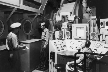 Navy personnel stationed in Idaho Falls, Idaho, in the mid 1950s learn how to operate the Nautilus S1W, the prototype of the Navy's first nuclear-powered submarine. | Photo courtesy of Idaho National Laboratory