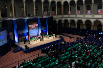 "The National Science Bowl finals take place each year in the National Building Museum. The top regional teams come to Washington, D.C., in the spring as they as they advance to National Finals. Registration is now open at the <a href=""http://science.energy.gov/nsb/"">NSB website</a>. 