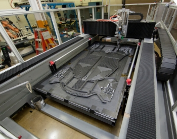 Through the new Small Business Vouchers Pilot, small businesses will be able to access tools like this large-scale 3D-printer at Oak Ridge National Laboratory's Manufacturing Demonstration Facility.   Photo courtesy of Oak Ridge National Laboratory.