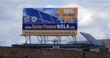 New Orleans is one of the DOE's 25 Solar America Cities. | Photo by Phil Voss, NREL 16862