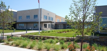 The new LEED Platinum K-12 school in Greensburg, Kansas.   Photo from Greensburg GreenTown, NREL 19952