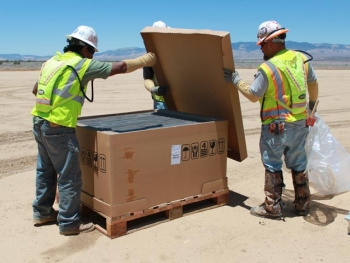 Antelope Valley Solar Ranch employed about 900 workers at peak construction.   Photo courtesy of First Solar.