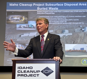 "Idaho Governor C.L. ""Butch"" Otter discusses the importance of completing the cleanup mission at the Idaho site."
