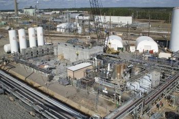 Pictured here is a component of the Interim Salt Disposition Process — known asModular Caustic Side Solvent Extraction Unit (MCU) — that helped Savannah RiverRemediation process more than 500,000 gallons of salt waste since October last year,a contract milestone.