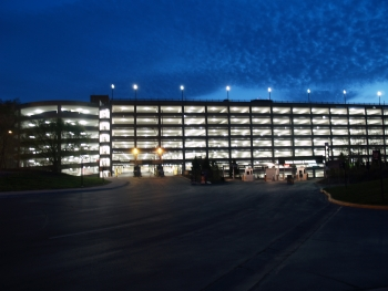 Upgrades such as new energy efficient lighting have helped slash energy use at the RiverCentre parking ramp in St. Paul, Minnesota by 50%. | Photo courtesy of City of St. Paul