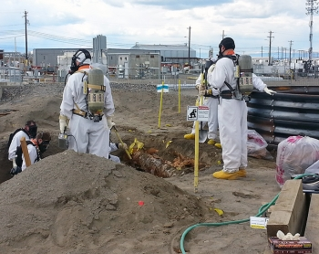 WRPS workers do preparatory work at the A/AX tank farms at Hanford in April 2015. They are the next tank farms from which waste will be retrieved at Hanford. WRPS recently received an 88 percent award fee for its performance in fiscal year 2015.