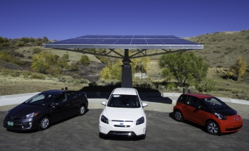 All-electric and plug-in hybrid cars purchased in 2015 may be eligible for federal and state income tax credits. Photo by Dennis Schroeder/NREL