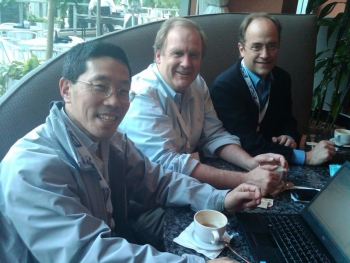 Photo of the 24M Technologies team (from left, Yet-Ming-Chiang, W. Craig Carter, and Throop Wilder.)  | Courtesy of 24M.