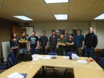 <strong>UNIVERSITY OF ALASKA FAIRBANKS</strong> From left to right: Shannan Hoyos, Ed Greene, Matthew Staley, Patrick Wade, Nick Janssen, Chic O'Dell, Pryce Brown, Bruce Lee, Wyatt Rehder, Dominic Dionne. Credit: University of Alaska Fairbanks