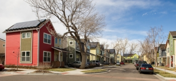Residential solar energy systems such as these in a Boulder, Colorado neighborhood are eligible for tax credits through 2016.   Photo by Dennis Schroeder, National Renewable Energy Laboratory.