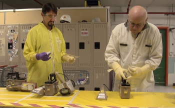 Industrial Hygiene employees at Hanford's Plutonium Finishing Plant streamlined and consolidated their operations, increasing safety and efficiency for employees on the project.