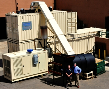 Community Power Corporation's modular biomass systems can generate up to 100 kilowatts of energy.   Courtesy of Community Power Corporation