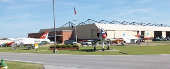 This hangar at Naval Air Station Meridian in Mississippi received an energy-efficiency makeover that included major lighting retrofits and water conservation measures.   Photo Courtesy U.S. Navy