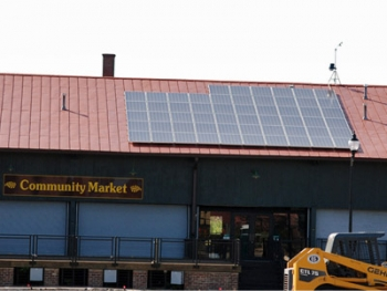 Solar panels at the Community Market Building in Danville, Va., have generated 36.4 MWh of energy since March. | Photo Courtesy of Danville