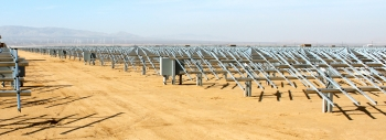The Antelope Valley Solar Ranch One uses 3.7 million thin film solar panels.   Photo courtesy of First Solar.