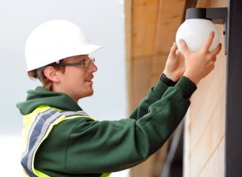 Replace your home's five most frequently used light fixtures or bulbs with ENERGY STAR models to save $75 per year.| Photo courtesy of Thomas Kelsey/U.S. Department of Energy Solar Decathlon