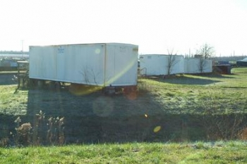 Old trailers that had sat for decades in the southwestern part of the Paducah site were cut up and placed in containers so that the debris could be placed in the site's industrial landfill.