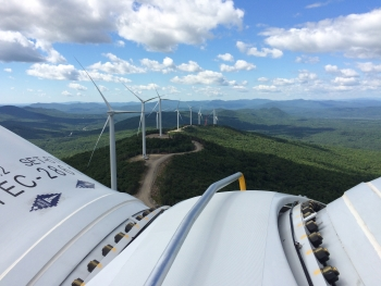 The Saddleback Ridge Wind Project in Maine. | Photo courtesy of  Ken Boulier, Patriot Renewables