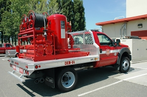 One of two of the Hanford Fire Department's new chemical trucks.
