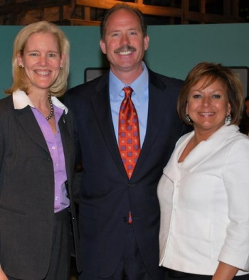 EM Principal Deputy Assistant Secretary Tracy Mustin, left to right, Albuquerque Mayor Richard Berry, and New Mexico Gov. Susana Martinez were among the speakers at the ceremony Wednesday.