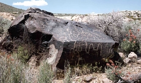 This petroglyph is among the many prehistoric artifacts at the NNSS.