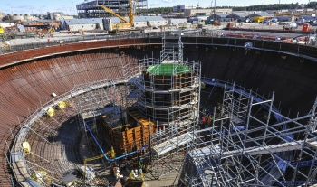 A look inside the Vogtle Unite 3 containment vessel bottom head.   Photo courtesy of Georgia Power Company.
