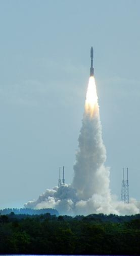 In this photo taken by Dr. Robert C. Nelson, Curiosity heads to Mars in November 2011 following an on-time liftoff from Space Launch Complex 41 on Cape Canaveral Air Force Station in Florida.